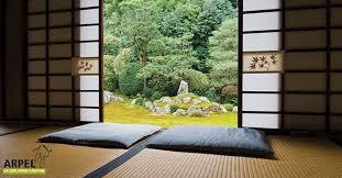 typisch japanisch wohnen tatami matten als bodenbelag