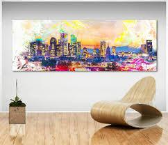 malerei new york skyline bild leinwand abstrakt kunst bilder