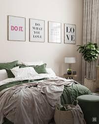 poster set mit sprüchen für gemütliche schlafzimmer