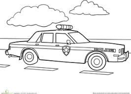 Preschool Vehicles Worksheets Police Car Coloring Page Worksheet