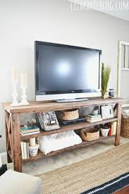Diy Rustic Tv Console Electrical Home Decor Painted Furniture