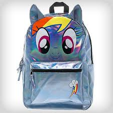 Spencers Rainbow Lava Lamp by Rainbow Dash Big Face Backpack From Spencers Gifts