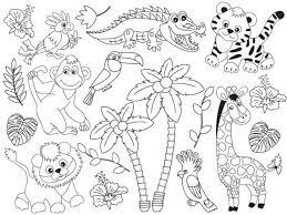 Jungle Animals Clipart Digital Vector Safari Animals Jungle