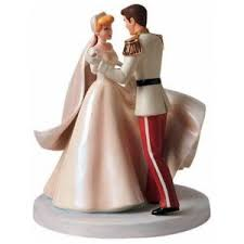 Cinderella and Her Prince Charming Wedding Cake Topper