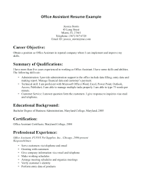 Clerical Administrative Resume Sample Resumes Medical Office Manager Examples Samples Admin Secretary Objective Assistant Back