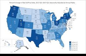 us bureau of economic analysis bea release gross domestic product by state third quarter 2017