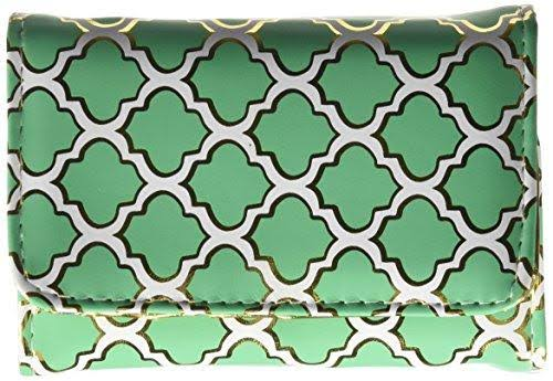 Fashion Smart Pill & Vitamin Case, Metallic Moroccan Jade, One Size