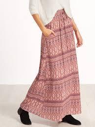 multi tribal print maxi skirt mark u0026 roberts