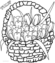 Tulip Printable Coloring Pages