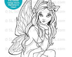 Adult Mystical Fairy Drawings