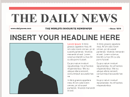 Front Page Newspaper Template Microsoft Word