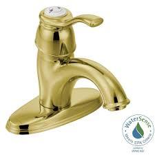 Moen Chateau Bathroom Faucet Handle by Moen Kingsley 4 In Centerset 1 Handle Low Arc Bathroom Faucet In
