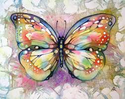 Butterfly Art Print Colorful Wall Decor Nursery