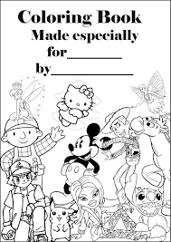 Book Cover Coloring Page