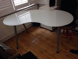 Ikea Galant Corner Desk Measurements by Ikea Galant Glass Desk In Epsom Surrey Gumtree