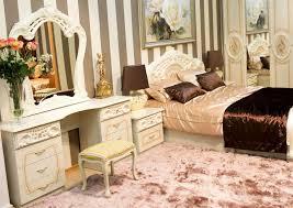 schlafzimmer 6 tlg klassisch hochglanz bett 180x200 beige