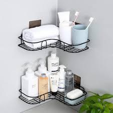 2 stück schwarz edelstahl bad duschkorb für die küche u