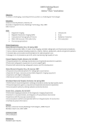 Sample Radiologic Technologist Resume