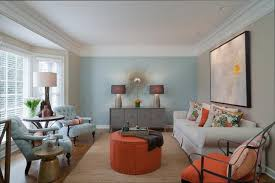brown and blue color scheme living room
