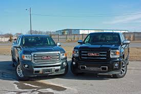 2015 GMC Canyon Long-Term Review: Side-by-Side With The GMC Sierra ... Gmc Comparison 2018 Sierra Vs Silverado Medlin Buick F150 Linwood Chevrolet Gmc Denali Vs Chevy High Country Car News And 2017 Ltz Vs Slt Semilux Shdown 2500hd 2015 Overview Cargurus Compare 1500 Lowe Syracuse Ny Bill Rapp Ram Trucks Colorado Z71 Canyon All Terrain Gm Reveals New Front End Design For Hd