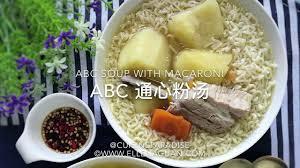 abc cuisine abc soup with macaroni