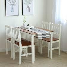 1 weiß tischgruppe mit 1 tisch 4 stühle essgrupp esstischset