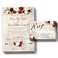 Wedding Invitations Rustic 7665 Plus Wood Vintage Lace