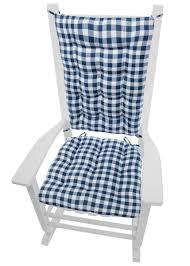 100 Navy Blue Rocking Chair Classic Check Cushions Latex Foam Fill