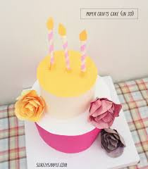 Paper Crafted Cake With Roses1