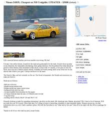 100 Craigslist Nh Cars And Trucks By Owner Is This Nissan 240SX The Worst Car On The Drive
