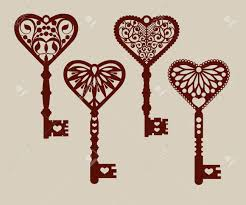Collection Of Templates Decorative Keys For Laser Cutting Paper Stencil Making