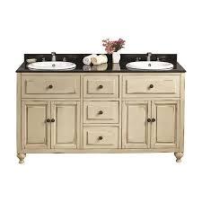Double Sink Vanity Top 60 by Ove Decors Kensington Antique White Drop In Double Sink Bathroom
