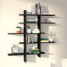Display Wall Shelves 5 Shelf Asymmetric Ideas