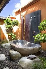Chandelier Over Bathroom Sink by Outdoor Bathroom By Pool Crystal Chandelier Above White Bathtub