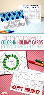 Click On The Image To Download These Free Printable Holiday Cards Adult Coloring Pages You