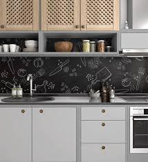 dekofolie spritzschutz herd kreide design küchenrückwand