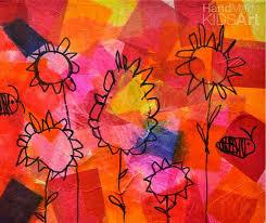 Flower Inspired Tissue Paper Collage