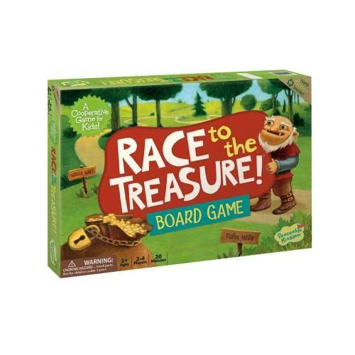 Peaceable Kingdom Board Game - Race to the Treasure!