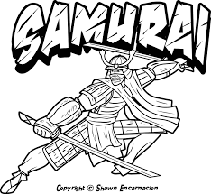 Japanese Coloring Pages Save Samurai