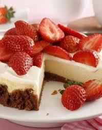 american cheesecake mit erdbeeren http kochen gofeminin