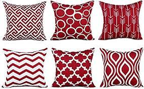 tidwiace rot kissenbezüge baumwolle und leinen kissenhüllen mit geometrischen mustern für sofa haus zimmer auto deko zierkissenbezüge 45 x 45 cm 6 er