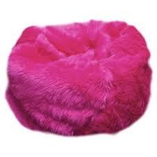 Fuzzy Fur Hot Pink Bean Bag Chair