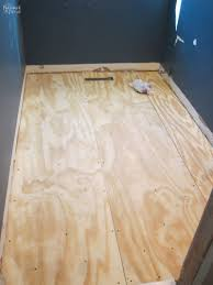 Tiling A Bathroom Floor On Plywood by Guest Bathroom Renovation Part 2 Tiling The Navage Patch