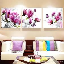 Wall Arts Magnolia Art Drop Shipping Flower Picture Oil Painting Canvas For Living