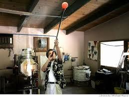 Blown Glass Pumpkins Boston by The Arts Artists Blow Up Pumpkins To Help Los Gatos High