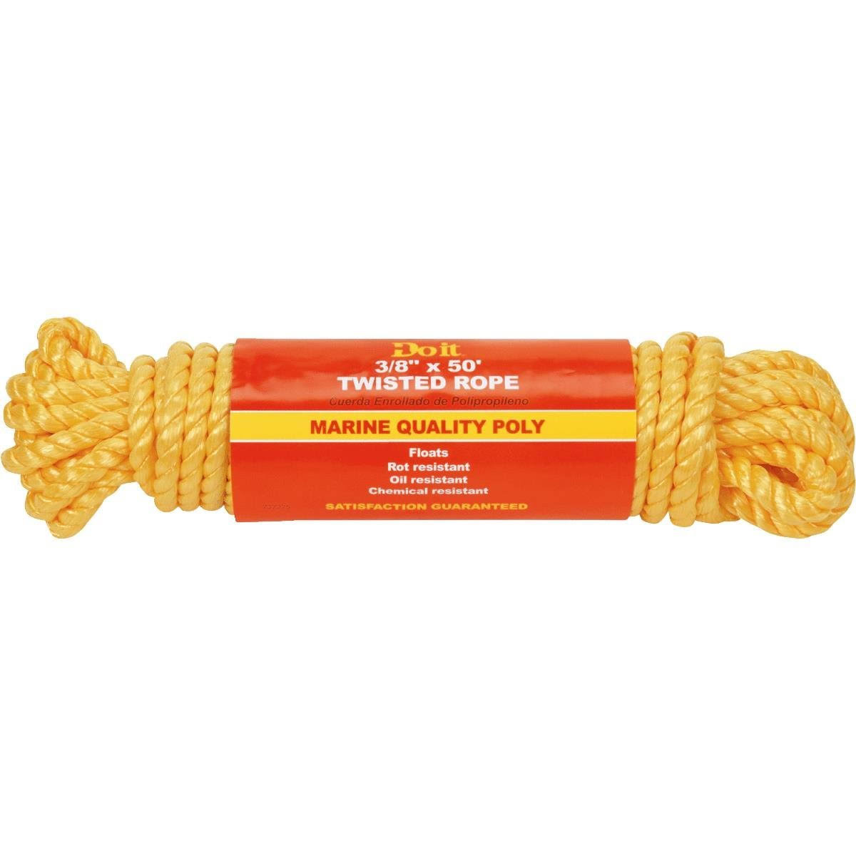 Do it Best Polypropylene Twisted Rope - 3/8in x 50ft