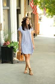 Madewell Striped Shirtdress Casual Summer Outfits How To Style A Hat Affordable Outfis My Vita Mystylevita 3