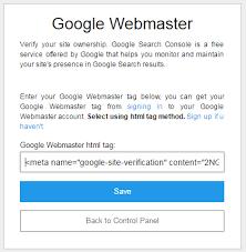 Webmaster by Google Webmaster Easystore App
