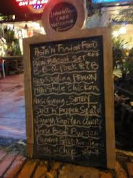 Street menu board Picture of Living Room Cafe Bar & Gallery