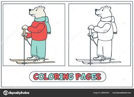 Coloriage De Skieur